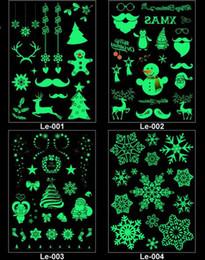 Tatuagem para o natal on-line-Festa Decoração Luminosa Tatuagem Temporária Adesivos de Natal Carnaval Festa de Ano Novo Decoração de Natal Decoração