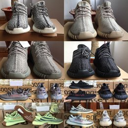 Wholesale Yellow Oxford Shoes - 2018 Kanye West 350 V1 Running Shoes Prite Black Oxford Tan Moonrock turtledove SPLY 350 Boost V2 Men Women Sports Shoes