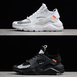 new style 10317 23892 2018 New Running Shoes for mens Huaraches Ultra 4 Men Women Black White Sport  Shoes Oregon AC.2017 Zapatillas Huarache Sneakers size 36-45