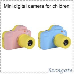 Wholesale focus children - High quanlity Mini Kids Camera Cute Kid Creative Neck Mini Digital Cameras for children Birthday Holiday Gift Toy gifts 770044-2