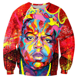 characters print sweatshirt Coupons - New Fashion Cool Sweatshirt Hoodies Men Women 3D Print B.I.G. Biggie Smalls Tupac Hot Style Streetwear Sleeve Clothing B56