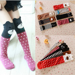 1476ffcd8 kids printed knee high socks 2019 - Children Cartoon Cute Knee High Long  Socks Girls Animal