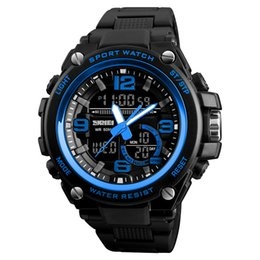 Argentina SKMEI Hombres Big Dail Dual Display Cuarzo Reloj LED Moda Reloj Impermeable Relogio masculino Deportes Al Aire Libre Relojes Al Por Mayor 1340 supplier digital led sports watch Suministro