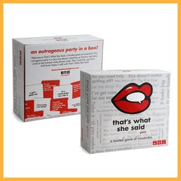 Wholesale paper punch cards - That's What She Said The Party Game of Twisted Innuendos is the board game equivalent of spiking the punch