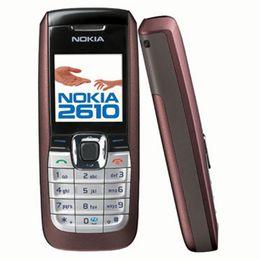 Cellphone gsm online-Rinnovato originale Nokia 2610 Bar economico telefono cellulare Multi-languange GSM 2G rete 4 colori Set completo cellulare gratis Post 1 pz