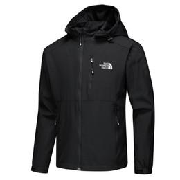 черное кожаное спортивное пальто Скидка Мода открытый куртки весна осень сплошной цвет ветровка для мужчин тонкий повседневная ветровка стенд воротник с капюшоном Мужские пальто