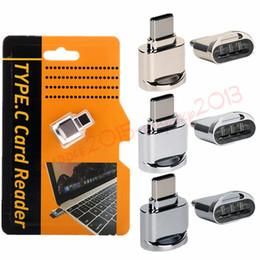 iphone bezel sticker Promotion Lecteur de carte portable USB C pour cartes Micro SD Micro SD vers Type C Adaptateur USB Transfert de données pour S8 LG G6 Xiaomi Huawei P9 P10
