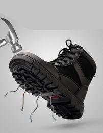 Zapato de invierno frío online-Nuevos zapatos de seguro de trabajo de invierno de los hombres de alta herramientas de acero punteras anti-aplastamiento punción sitio de soldadura zapatos de seguridad botas calientes