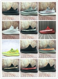 Wholesale day running lights - Cheap Sply 350 Boost V2 Semi Frozen Yellow Blue Tint Zebra Cream White Beluga 2.0 Boost 350 Kanye West Running Shoes Sneakers