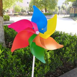 peonia nera artificiale Sconti Mulino a vento fai da te partito decor girandola whirligig carillon del vento decorazione floreale casa cortile decorazioni per il giardino ornamento qw8176