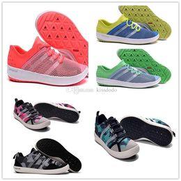 Wholesale hard grip - 2017 New Discount Outdoor Boat CC Lace Water Shoe Cheap Fashion Men Women Blue Black Orange Climacool Water Grip Sneakers 36-44