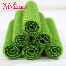 Wholesale Artificial Turf Greens - New Simulation Moss Grass Lawn Micro Landscape DIY Turf Mini Fairy Garden Artificial Plants Home Landscaping Wall Decor 30X30cm
