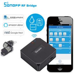 Onoff RF Bridge Smart Home Control WiFi 433 Mhz Sostituzione Parti di ricambio interruttore remoto wireless Sonoff RF Ponte Smart Home Control ... supplier 433mhz wireless remote control switch da interruttore senza fili di telecomando 433mhz fornitori