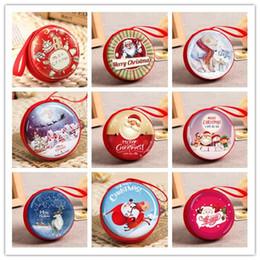 cambiare il supporto rotondo Sconti 22 rotonda di disegno di Natale borsa della moneta di latta Mini Portachiavi cambiamento raccoglitore della borsa del regalo della decorazione del sacchetto di Natale per cuffie XAMS albero di natale