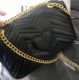 quasten-eimer tasche blau Rabatt 2018 frauen luxus Klassische Leder herz stil goldkette heißer verkauf frauen taschen handtaschen schultertasche tragetaschen messenger handtaschen