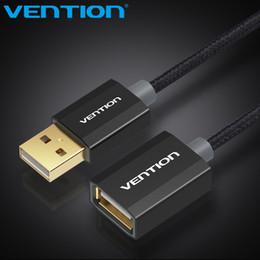 2019 transfert de câble Vention USB Câble d'extension USB 2.0 Câble mâle à femelle Data Sync Transfert or plaqué pour ordinateur USB Extension transfert de câble pas cher