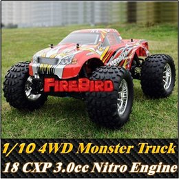 Wholesale Hsp Car Nitro Road - HSP BISON 1 10 Scale 3.0cc Nitro Engine Power 4WD off-Road Monster truck , High speed Rc Car for Hobby