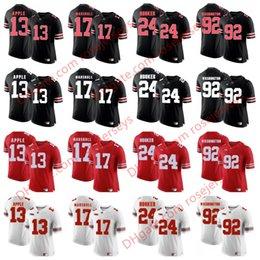 Wholesale Eli Manning Jersey Xl - Ohio State Buckeyes #13 Eli Apple 17 Jalin Marshall 24 Malik Hooker 92 Adolphus Washington Black Red White Stitched College Football Jerseys