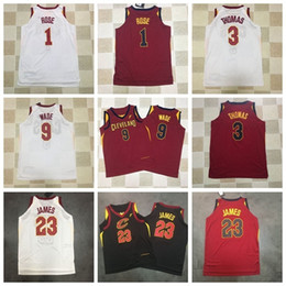 Wholesale army sign - 2018 New CLE Basketball CAVS Mitchell Vest Jersey Men Women Youth Signed 23 LBJ 9 WD 1 DR Black Red USA Team HFQY002