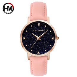 Wholesale Japan Watches For Women - 2018 new Quartz watch for lady fashion star women wrist watches Japan movement diamond genuine Leather 6 colors XK36
