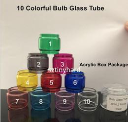 Tube de verre de remplacement pour ampoule convexe de couleur individuelle pour Smok tfv8 x grand bébé tfv12 prince baby Resa Vape pen 22 plus tank ? partir de fabricateur