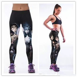 Wholesale zombie bride - Europe and the United States women's best-selling paragraph zombie bride digital printing sports pants women's tight elastic hip yoga pants