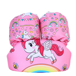 Wholesale Life Float Ring - Baby Animal print Swimming Arm Ring Floating Inflatable Sleeves Safety airbags cartoon unicorn life jacket C3774