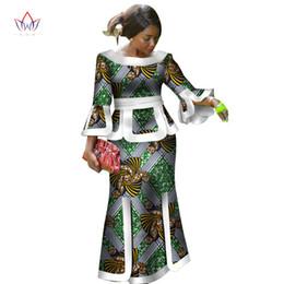 grüner gelber trainingsanzug Rabatt Afrika Zweiteiler Für Frauen Mode 2018 Dashiki Handgelenk Sleeve Afrikanische Kleidung Bazin Plus Größe Dame Kleidung für Party WY2718