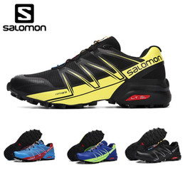 pro lace Promo Codes - Salomon Speed Cross 3 Speedcross Pro Outdoor Male Sports Shoes Blue Mens Shoes Eur 40-46 Breathable running shoes