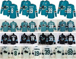 Wholesale Flash Full - 2018 AD Ice Hockey San Jose Sharks Jersey 8 Joe Pavelski 19 Joe Thornton 39 Logan Couture 88 Brent Burns Green Black All Stitched For Men