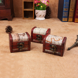 Modelli mini box online-Mini scatole di immagazzinaggio Contenitore di monili dell'annata Caso di immagazzinaggio dell'organizzatore Mappa modello Contenitore di metallo Casa fatta a mano piccole scatole WX9-755