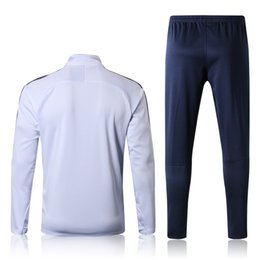 Wholesale polartec power dry - 2018 new World Cup Fra blue white Tracksut Kits sweater tracksuit set training Suits men Clothes Trackring suits Male Hoodies mix order