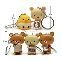 Nueva animación japonesa Rilakkuma Kawaii llavero muñecas de juguete 3 ~ 5 cm lindo oso colgante regalo de cumpleaños para niños desde fabricantes