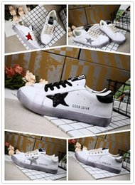 Wholesale Golden Rubbers - High quality Golden Goose Ggdb old style sneakers Genuine Leather Villous Dermis Casual Shoes Mens And Women Luxury Superstar trainer 36-39