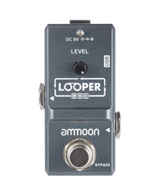 guitar recording Coupons - ammoon AP-09 Loop Guitar Pedal Looper Electric Guitar Effect Pedal True Bypass Unlimited Overdubs 10 Minutes Recording