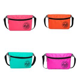 Wholesale Outdoor Clothing Fabrics - Waterproof Zipper Handbag Women Outdoors Portable Waist Bag Multi Color Oblong Shape Cosmetic Bags Hot Sale 14ch V