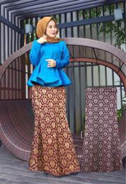 Wholesale Spandex Kaftan - Fashion long islamic skirts Bronzing picture long skirt muslim dubai dresses for women abaya for muslim girls formal kaftan