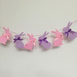 2019 bandiere di seta Party Banner Pink Rabbit Bunting Camera dei bambini Decor Hanging Bandiera Baby Shower Banners Nastro di seta Wedding Party Decor ZA5933 bandiere di seta economici