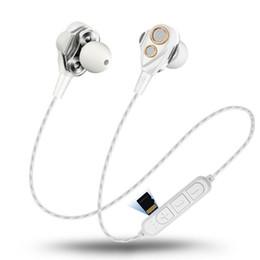 Vente en gros 4 haut-parleurs sans fil Bluetooth Écouteurs Sport Casque Double Pilote Dynamique Casque HIFI Moniteur Stéréo Basse Écouteurs Mic Musique ? partir de fabricateur