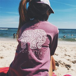 Wholesale Elephant Print Laces - Autumn Casual T-shirt Women Tee Print Animal Elephant T Shirt Loose Crop Top Long Sleeve Large Size Shirt DHL 180125