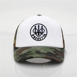 Военный вентилятор Beretta пистолет логотип бейсболки летняя мода хип-хоп шляпа Мужчины Женщины дальнобойщик шляпа от