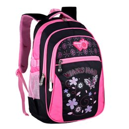 f23d9972d54b child size backpacks Australia - New Children School Bags for Girls Lovely  Butterfly Printing Backpack Waterproof