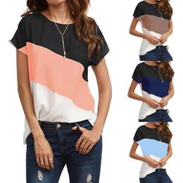 Wholesale bat winged tops - Vertvie 2018 Women Running Shirt Sports T-shirt Patchwork Block T Shirt Bat-wing Sleeve Short Sleeve O-Neck Tops Short
