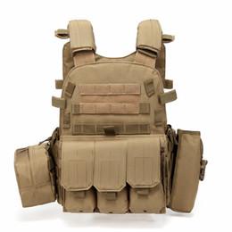 Chalecos de paintball táctico online-Caza Táctico Accessoris Body Armor JPC Plate Carrier Chaleco Ammo Magazine Pecho Rig Paintball Gear Cargando Bear Chalecos