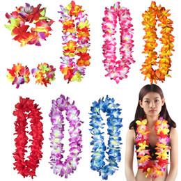 2020 grinaldas havaianas Nova Moda Colorido Grinalda Havaiana Flores Artificiais Colar realização de grinalda festival Festa de Praia Decoração suprimentos T3I0353 grinaldas havaianas barato