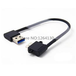 2019 câble usb b angle gauche Coudé à droite / gauche 90 degrés USB 3.0 A mâle à Micro B Mâle Câble à 90 degrés pour Galaxy Note3 N9000 N900 S5 i9600 Thinkpad 8 câble usb b angle gauche pas cher