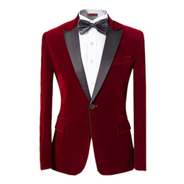 Wholesale Men S Dinner Jackets - Custom Made New Style Mens 2-piece Suit Peaked Lapel One Button Tuxedo Slim Fit Dinner Jacket Men Suit Jackets