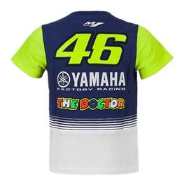 Wholesale moto girl - 2018 New Moto GP THE DOCTOR KID VR46 T-SHIRT Motorcycle Children Baby Boys Girls Cute T-Shirt Kids Tee for YAMAHA M1