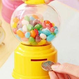 Doces bonitos Mini Máquina De Doces Bubble Gumball Dispensador Coin Bank Crianças Brinquedo Em Todo O Mundo venda transporte da gota de