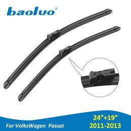 "Wholesale volkswagen auto accessories - BAOLUO Car Windshield Wiper Blades For Volkswagen Passat 2011 2012 2013 Pair 24""+19""Soft Natural Rubber Windscreen Wipers Auto Accessories"